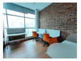 Sewa Murah Ruang Kantor 376 m2 Furnished di APL Tower di Central Park Jakarta Barat