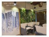 DISEWA Office DISTRICT 8 TREASURY 285m2/Fully Furnished/Brand new by Designer/Kapasitas 30 Staff/Rp 320 ribu/m/bulan/08111-71-0202 Kunci Ready